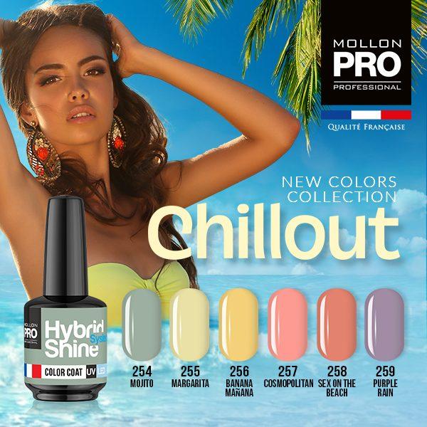 Colección Chillout+ base coat y top coat gratis 8ml