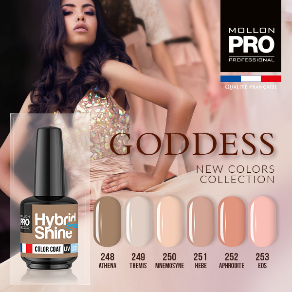 Colección Goddess + base coat y top coat gratis 8ml