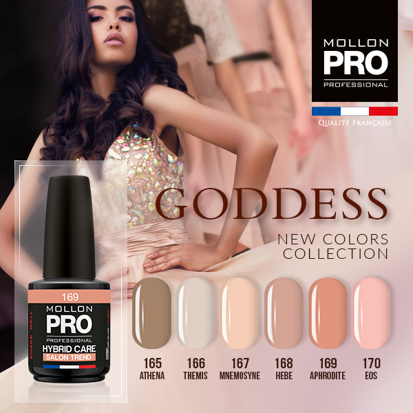 Colección Goddess + base coat y top coat gratis 12ml